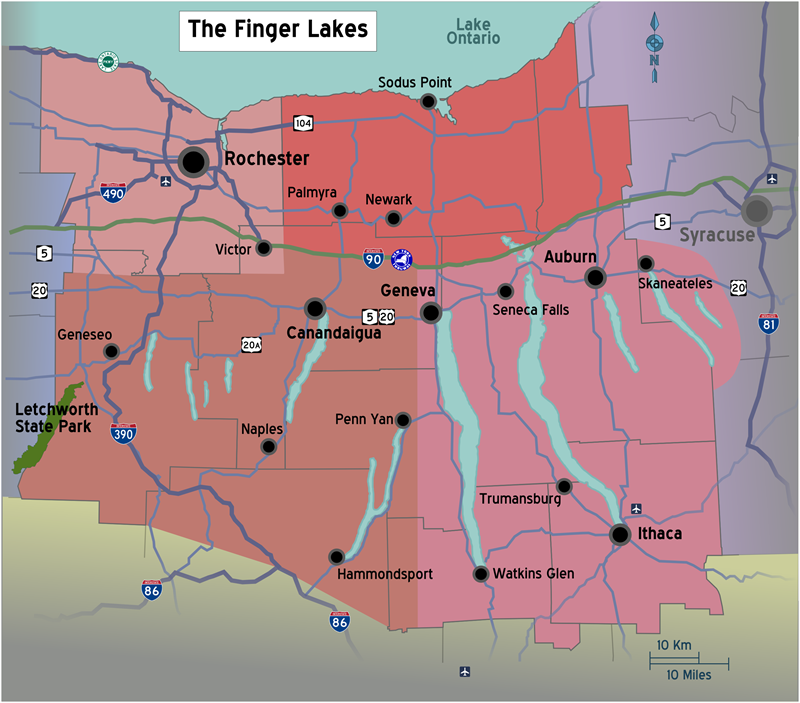 New_York_-_Finger_Lakes_region_map_with_road_shields