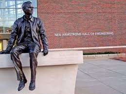 Neil Armstrong Purdue statue